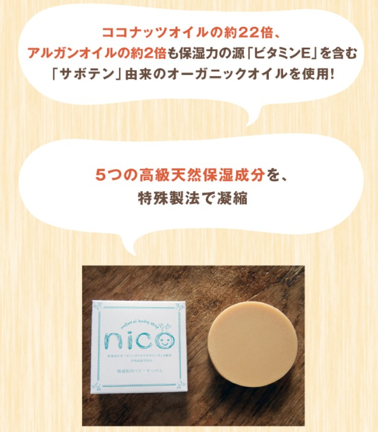 nico石鹸,効果